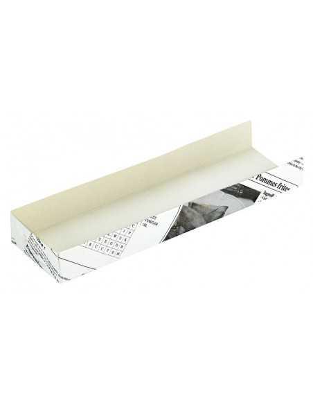 Envase cartón periódico para hot dog 18 x 4 x 2 cm (1000 Uds) Precio unitario 0,13€