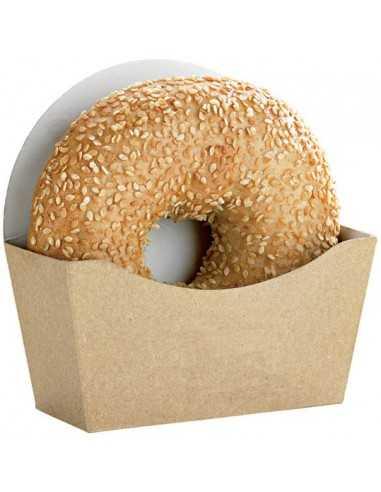 Caja de cartón para bagel 12 x 12 x 4,5 cm. (1000 Uds) Precio unitario 0,18€