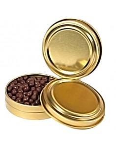 Lata dorada ø 6,5 x 2 cm. 30 ml. (12 Uds) Precio unitario 3,10€
