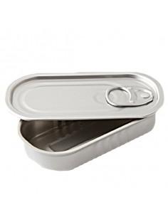 Lata de conserva rectangular vacía 11x5,5 cm 50 ml (100 Uds) Precio ud 0,63€€
