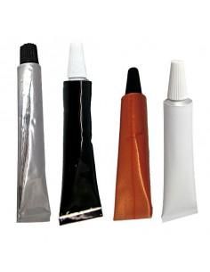 Tubo aluminio 15 ml. Blanco, negro, cobre y plata