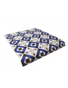 Bandeja baquelita suelo hidraúlico marrón 35 x 30 cm. (1 Ud) Precio 16,90