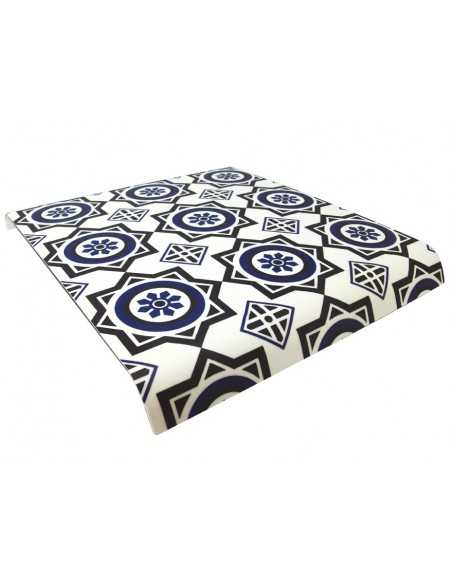 Bandeja baquelita suelo hidraúlico azul 35 x 30 cm. (1 Ud) Precio 16,90