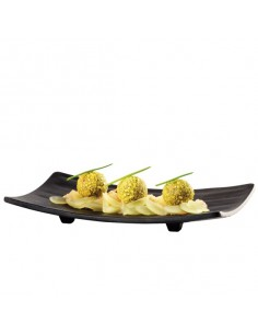 Bandeja para sushi zen con patas zen blanca ó negra