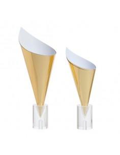 Conos de cartón dorado. Varias medidas (100 Uds) Precio unitario desde 0,23€