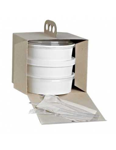 Caja con asa Picnic. 17'6 x 17'6 x 15 cm (100 Uds) Precio unitario 0,84€