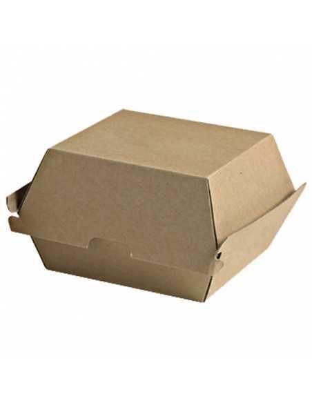 Caja hamburguesa kraft 14,5 x 13,5 x 8,2 cm (500 Uds) Precio unitario 0,39€