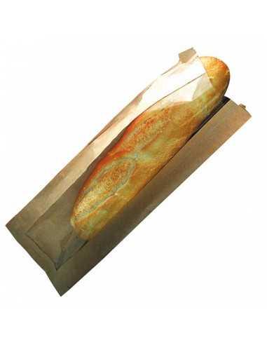 bolsa con ventana para baguettes. 12 x 4 x 34 cm (1000 Uds) Precio unitario 0,04€