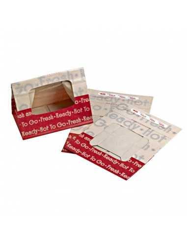 Bolsa papel reforzada con ventana. Varias medidas (500 Uds) Precio unitario 0,36€
