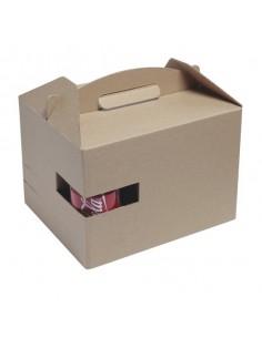 Caja picnic kraft 30 x 20 x 17,5 cm (100 Uds) Precio unitario 1,25€