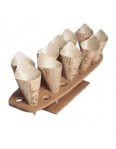 Portaconos bambú 20 agujeros 50 x 15 x 8'5 cm (1 Ud) Precio 18,40€