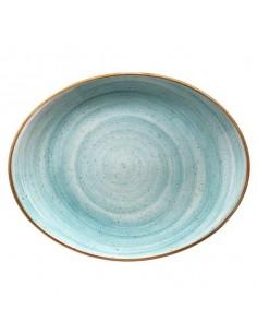 Fuente oval Porcelana Aqua Moove 31 x 24 cm (6 Uds). Precio unitario 38,49€