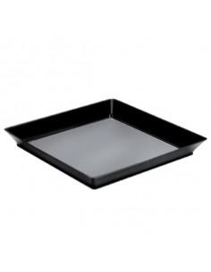 Set de 12 Platos cuadrados desechables 13 x 13 cm. 130 ml. Precio ud 0,44€