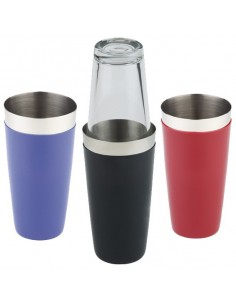 Coctelera inox con silicona y vaso 9 x 30 cm 700 ml (1 Ud) Precio 19.10€