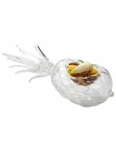 Bowl Piña de cristal 13 x 9 x 9 cm (1 Ud) Precio 64,38€