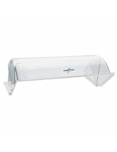 Campana rolltop con pomo cromado para cesta y con medidas de 53 x 32.5 x 7 cm.