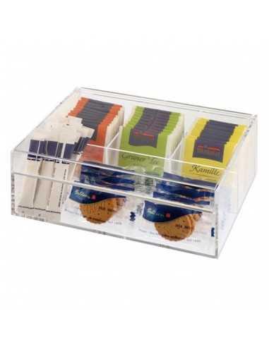 Caja de tés plástico 22 x 17 x 9 cm (1 Ud) Precio 20,21€