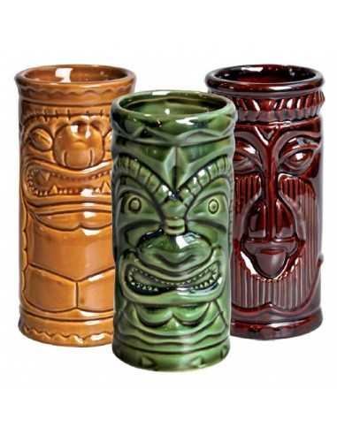 Set 3 Tazas Tiki porcelana ø6,7 x 14,2 cm 250 ml (1 Ud) Precio 43,61€