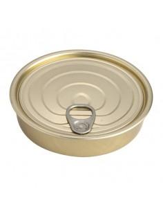 Lata hojalata redonda con tapa dorada ø12 x 2,2 cm 120 ml (100 Uds) Precio unitario 0,62€