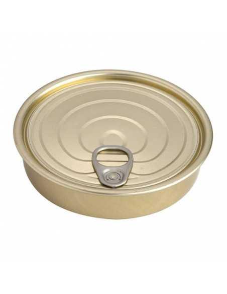 Lata hojalata redonda con tapa ø12 x 2,2 cm 120 ml (100 Uds) Precio unitario 0,62€