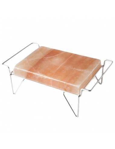 Soporte inox para plancha de sal 41 x 23 x 14 cm (1 Ud) Precio 50,82€