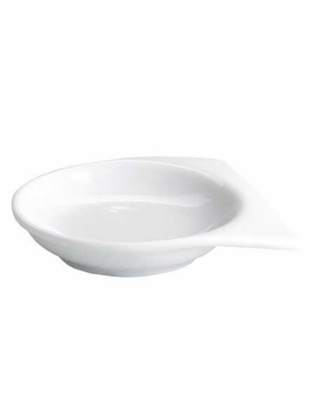 Salsero porcelana blanca con doble asa