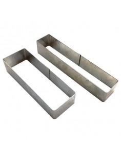 Mini molde rectangular inox. Varias medidas (12 Uds) Precio ud 10,89€