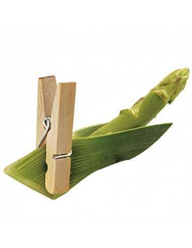 Mini pinza madera desechable para catering