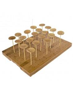 Soporte madera 49 brochetas