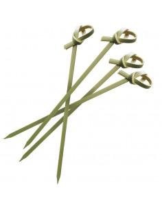 Brochetas bambú lazo