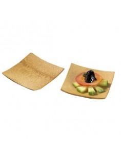 Mini plato cuadrado bambú 6 x 6 cm (144 Uds) Precio ud 0,43€