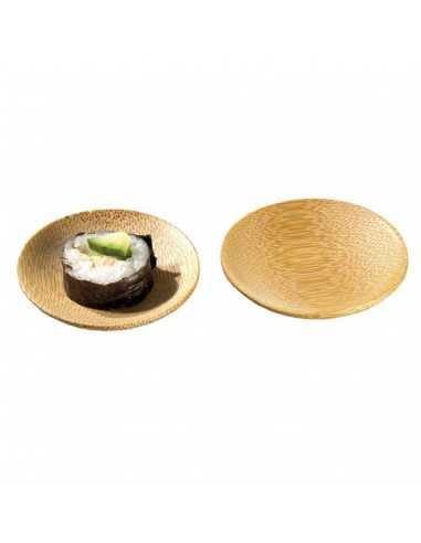 Mini plato redondo bambú