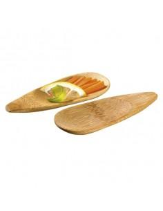 Mini plato gota bambú 10 x 4 cm (144 Uds) Precio ud 0,42€