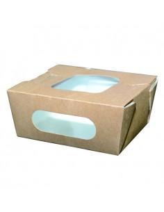 Caja kraft con doble ventana