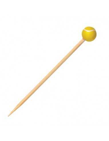 Brocheta bambu tenis