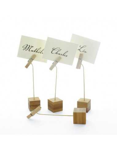 Soporte para tarjetas de bambú (144 Uds.)