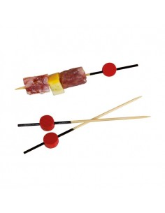 Picks de bambú con cabeza roja (2000 Uds.)