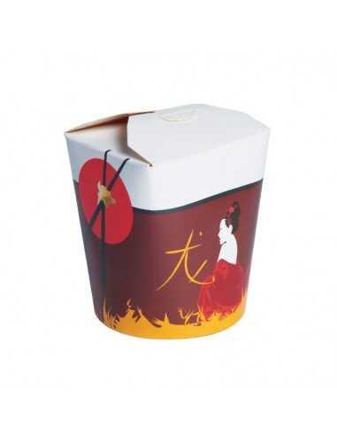 Cajas para comida oriental con base redonda de cartón  (500 Uds.)
