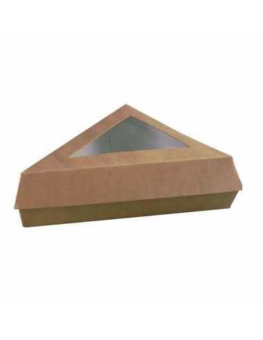 Caja pastelera triangular Kraft (200 Uds.)