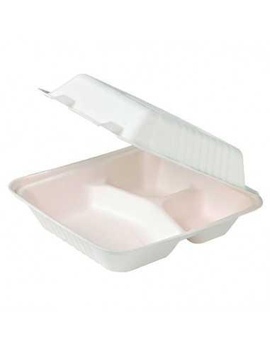 Envase de pulpa con 3 compartimentos (200 Uds.)