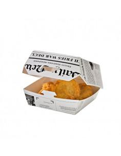 Cajita para hamburguesas con impresión periódico (500 Uds.)
