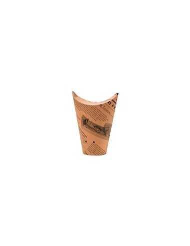 Caja kraft redonda para pastas diseño periódico (1000 Uds.)