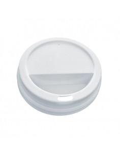 Tapa alta blanca para vaso caliente 16oz (1000 Uds.)