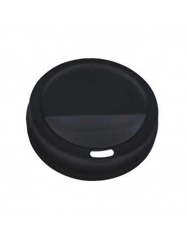 Tapa alta negra para vaso caliente 16oz (1000 Uds.)