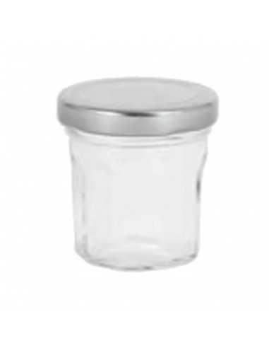 Mini tarro de vidrio ø5 x 5 cm 50 ml (72 Ud) Precio ud 1€