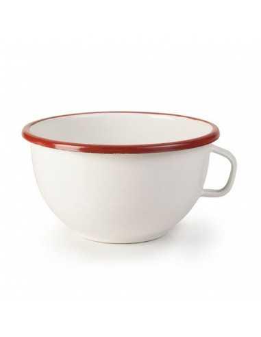 Bowl con asa peltre filo rojo