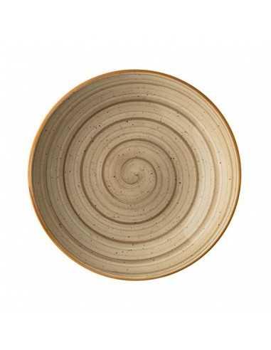 Plato hondo porcelana gourmet terrain. ø23x4cm 100cl (6 Uds) Precio ud 2,56€