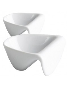 Salsera de porcelana blanca