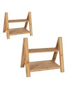 Soporte doble altura bambú. Varias medidas (2 Uds) Precio ud desde 27,23 €