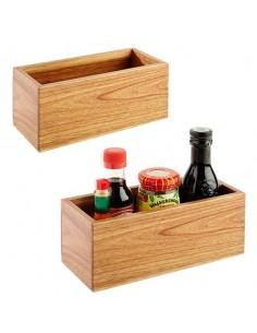 Caddy de mesa madera de acacia 23 x 10 x 10 cm  (1 Ud) Precio ud 12,32€